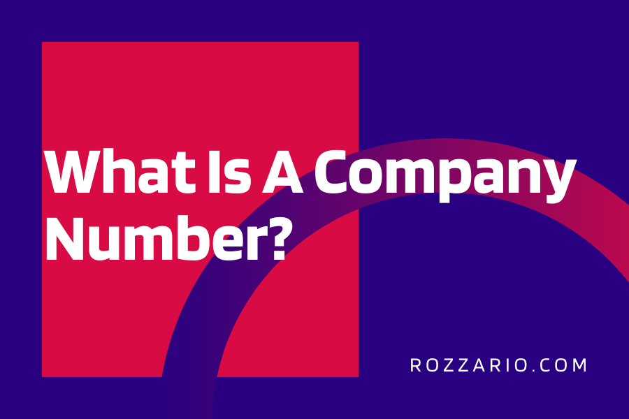 What Is A Company Number_