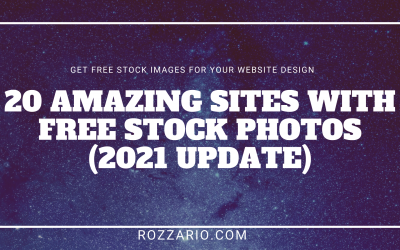List of 20 FREE STOCK IMAGES SITES FOR WEBSITE DESIGN 2021